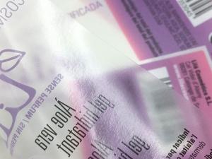 PE transp. / cmyk+w / barniz UV brillo