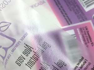 PE transp. / cmyk+w / vernis UV brillant